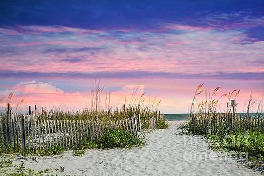 Sunset on the Beach by Debbie Green