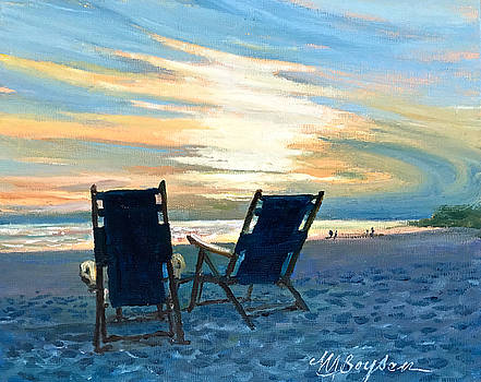Sunset on the Beach by Maryann Boysen