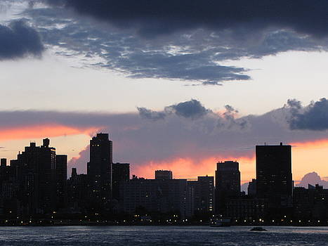 Sunset on the Upper East Side by Peter Aiello