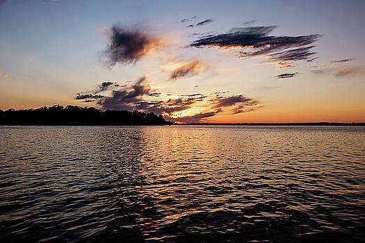 Sunset on Toldeo Bend Lake by Scott Pellegrin