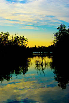Sunset over a Lake by Pixie Copley