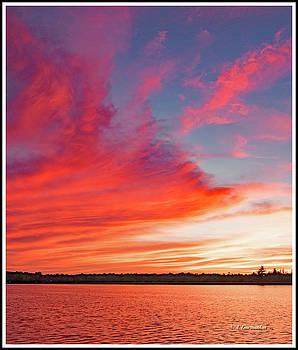 Sunset Over a Lake, Pocono Mountains, Pennsylvania by A Gurmankin