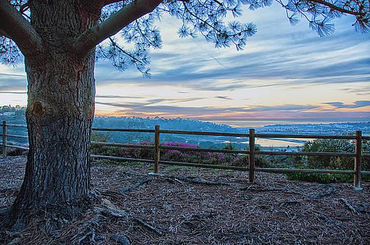 Sunset over Del Mar - Carmel Valley - California by Bruce Friedman