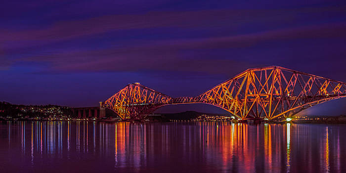 Sunset Over Forth Rail Bridge by Tylie Duff