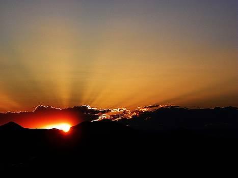 Sunset Over Jemez Mountains by Joseph Frank Baraba