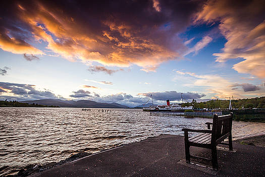 Sunset over Loch Lomond by Arianna Petrovan