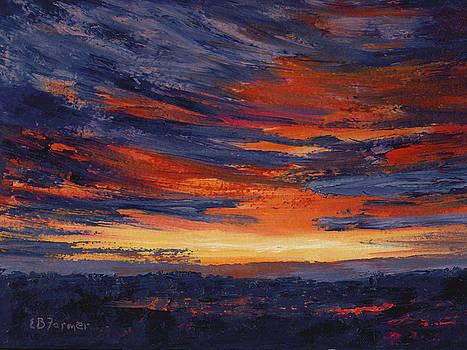 Sunset over Marsh, Plum Island, MA by Elaine Farmer