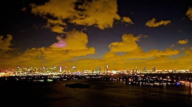 sunset over Miami 250 by Ronald  Bell