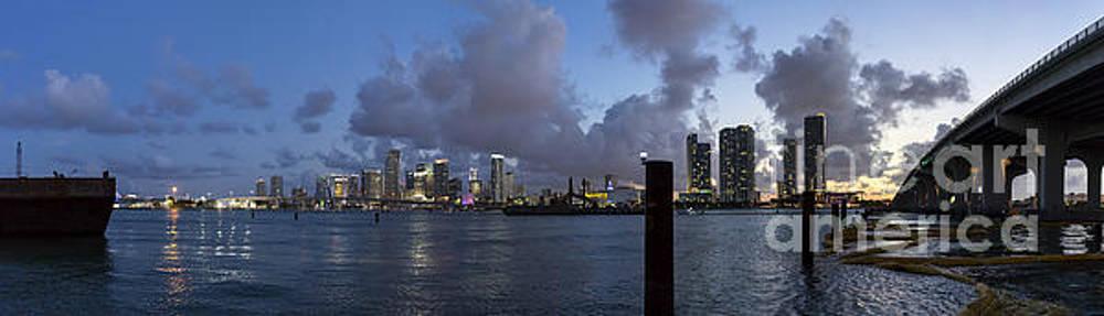Lynn Palmer - Sunset Over Midtown Miami
