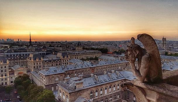 Sunset Over Paris by David Hinchen