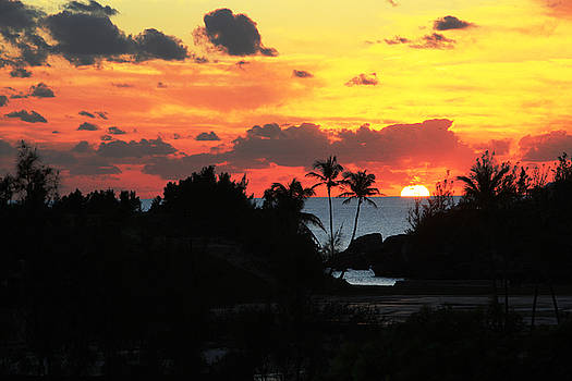 Sunset over South Shore Bermuda by Lori Goodwin