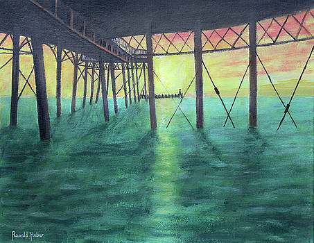 Sunset over St Annes Pier by Ronald Haber