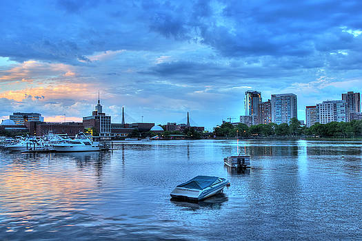 Joann Vitali - Sunset over the Charles River and the Museum of Science - Boston