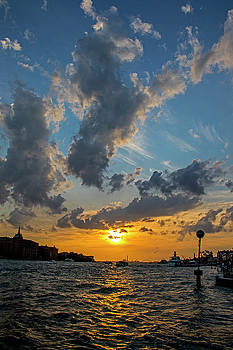 Sunset over the Grand Canal in Venice II by Jean Haynes