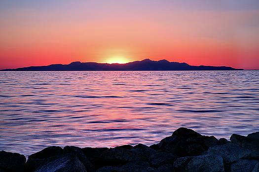 Sunset over the Great Salt Lake by Kayta Kobayashi
