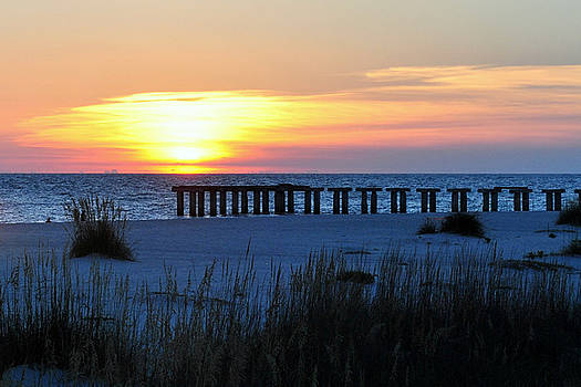 Sunset over the Gulf of Mexico by Steven Scott