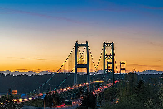 Sunset over the Narrows by Ken Stanback