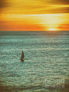 Sunset Over The Pacific  ... by Chuck Caramella
