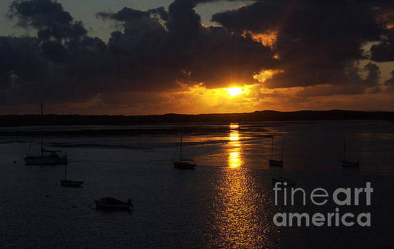 Sunset over the receding Tide  by Pete Moyes