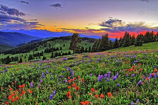 Sunset Over The Ridge by Scott Mahon