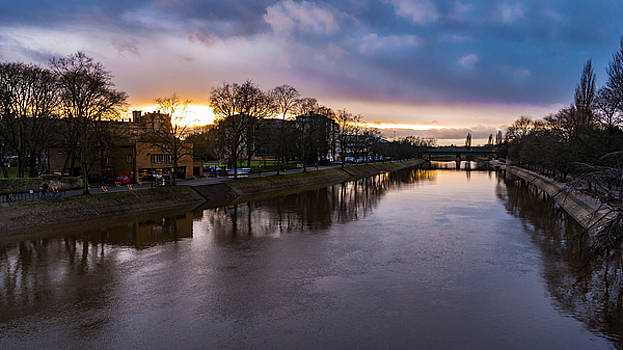 Sunset Over The River Ouse by Gemma Greaves