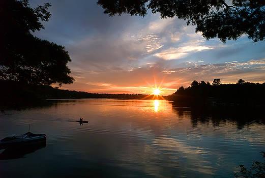 Sunset Panther Lake by Pat Carosone