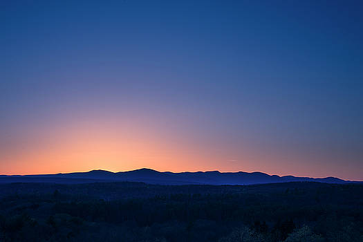 Sunset Mountains - New York State  by Photography