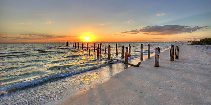 Sunset Pilings by Sean Allen