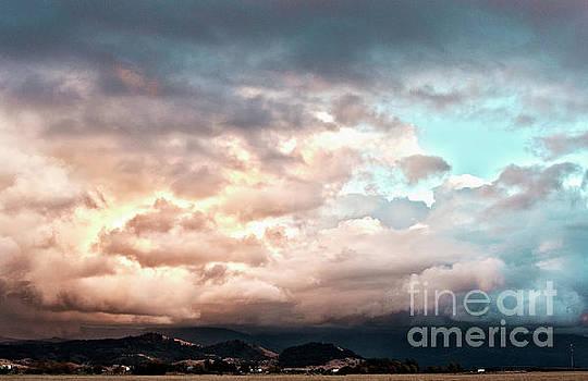 Sunset Rain Clouds 2 by Janie Johnson