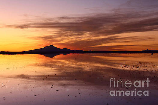 James Brunker - Sunset Reflected in Salar de Uyuni