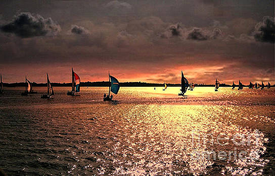 Sunset Sail - Bermuda by Judy Palkimas