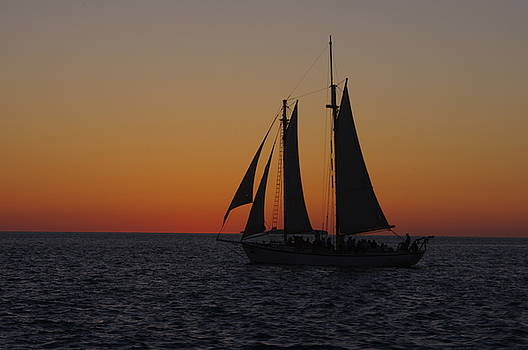 Sunset Sail by Greg Graham