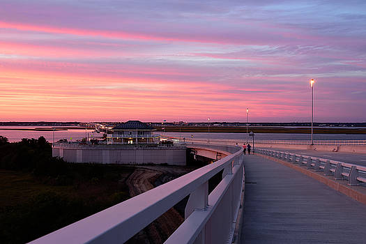 Sunset Stroll On The Bridge by Dan Myers