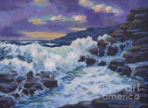 Sunset Surf by Jim Krug