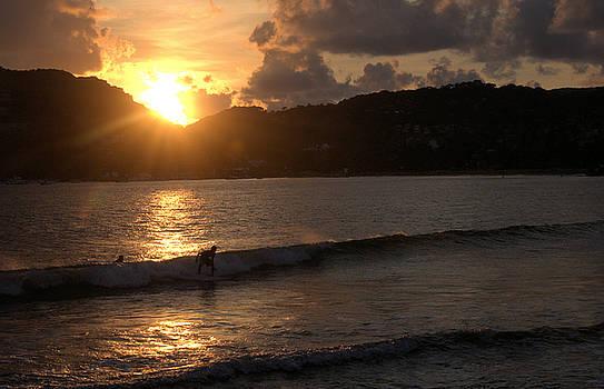 Sunset Surfer by Jim Walls PhotoArtist