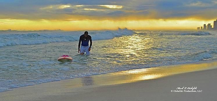 Sunset Surfer by Mark Olshefski