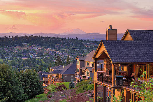 Sunset View from Deck of Luxury Homes by Jit Lim
