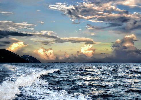 Sunset Wake by Jim Hill