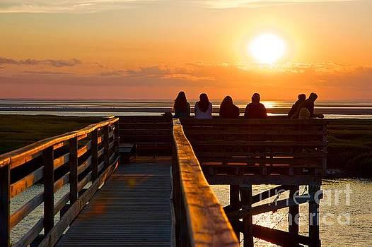Sunset Watching at Grays Beach Boardwalk by Amazing Jules