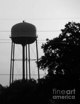 Sunset Water Tower BW Version Two by Joseph Baril
