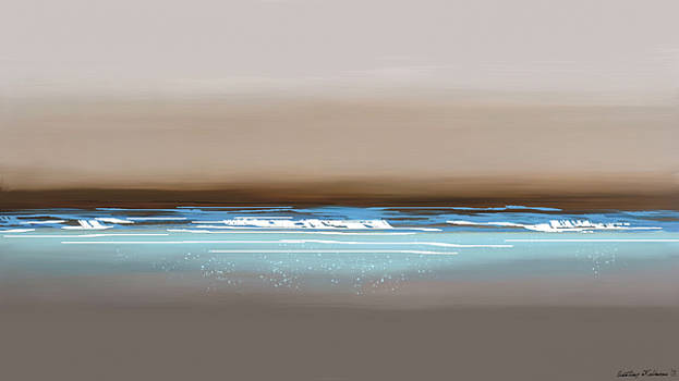 Sunset waves by Anthony Fishburne