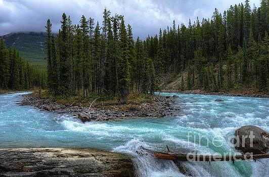 Sunwapta Falls Jasper National Park Alberta Canada by Wayne Moran