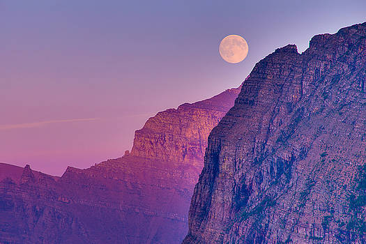 Super Moon at Logan Pass by Adam Mateo Fierro