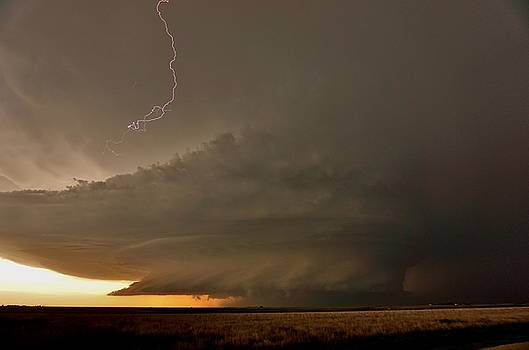 Supercell in Kansas by Ed Sweeney