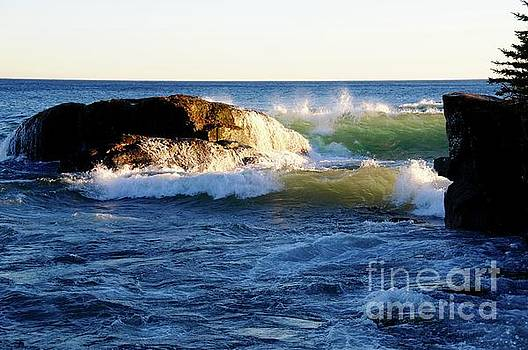 Superior November Waves by Sandra Updyke