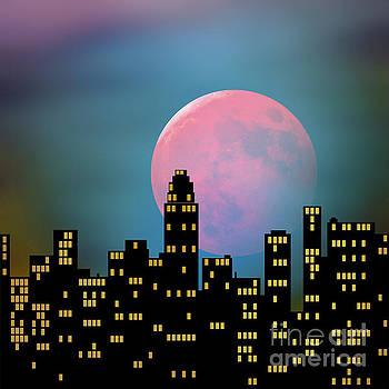 Supermoon over the City by Klara Acel
