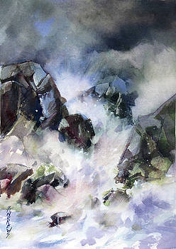 Surf Action 2 by Rae Andrews
