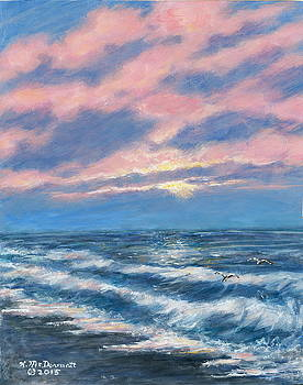 Surf and Clouds by Kathleen McDermott