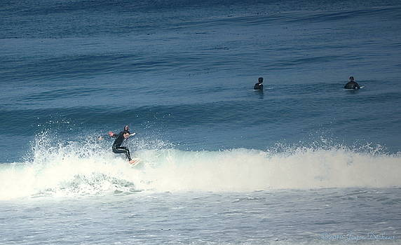 Surfing Carmel Beach Two by Joyce Dickens