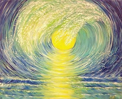 Surfing Wave by Deyanira Harris
